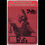 Blue Oyster Cult Revolution By Night Red Backstage Pass