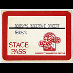 Bootsy's Rubberband 1978 Stage Pass