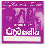 Cinderella 1989 Purple Before Show Pass
