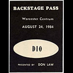 DIO 1984 Backstage Backstage  Pass