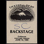 Grateful Dead 1980 Portland Backstage Pass