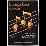 Grateful Dead 6/13/1993 Buffalo Backstage  Pass