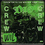 Dio Throw 'em to the Wolves Tour 1990 Backstage Pass