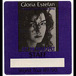 Gloria Estefan 1989 Get On Your Feet Staff Backstage  Pass