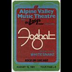 Foghat 1981 Tour Backstage  Pass