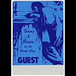 Guns N' Roses 1991 Blue Guest Pass