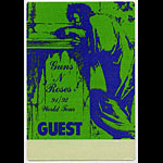 Guns N' Roses 1991 Green Guest Pass