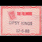 Gipsy Kings 1988 Fillmore Backstage Backstage  Pass