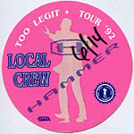 MC Hammer 1992 Too Legit Pink Crew Pass
