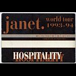 Janet Jackson 1993 Hospitality Pass