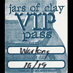 Jars of Clay VIP Working Pass Backstage Pass