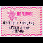 Jefferson Airplane 1989 Fillmore Aftershow Backstage  Pass
