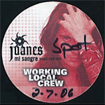 Juanes Working Local Crew Backstage Pass