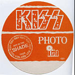 KISS 1990 Hot In The Shade Orange Photo Pass