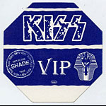 KISS 1990 Hot In The Shade Blue VIP Pass