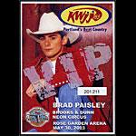 Brad Paisley Brooks & Dunn 2003 VIP Pass