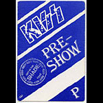 KISS 1990 Hot In The Shade Blue Pre-Show Pass