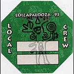 Lollapalooza 1993 Crew Backstage  Pass