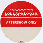 Lollapalooza 1992 Aftershow Pass