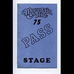 Mountain Aire 1975 Stage Backstage  Pass