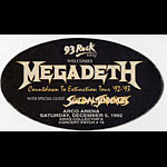 Megadeth 1992 Countdown To Extinction Pass