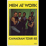 Men At Work 1983 Canadian Tour Backstage  Pass