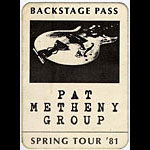 Pat Metheny Group Spring 1981 Backstage Pass