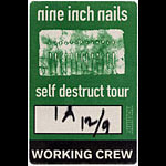 Nine Inch Nails Self Destruct Tour Pass