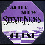 Stevie Nicks 1989 Purple After Show Guest Backstage  Pass