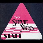 Stevie Nicks 1989 Staff Pass
