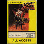 Ozzy Osbourne Ultimate Sin All Access Backstage  Pass