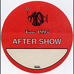 Phish 1995 Red After Show Backstage  Pass