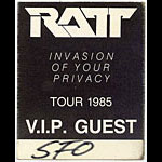 RATT 1985 Invasion Of Your Privacy VIP Pass