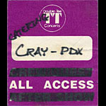 Robert Cray All Access Catering Backstage Pass