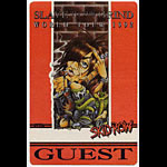 Skid Row 1992 Guest Backstage  Pass