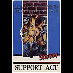 Skid Row 1992 Support Act Backstage  Pass