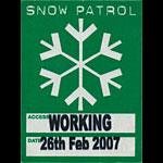 Snow Patrol Working Backstage Pass
