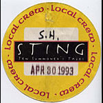Sting 1993 Ten Summoner's Tales Crew Pass