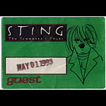 Sting 1993 Ten Summoner's Tales Guest Pass