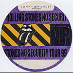 Rolling Stones 1999 No Security VIP Backstage  Pass