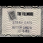 Stray Cats 1989 Fillmore After Show Pass