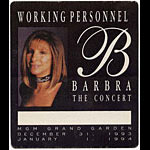 Barbara Streisand 1993 Personnel Pass