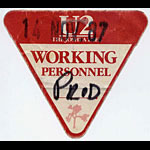 U2 1987 Joshua Tree Personnel Pass