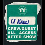 The U-Krew Crew/Guest All Access Backstage Pass