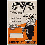 Van Halen 1993 Meet N' Greet Pass