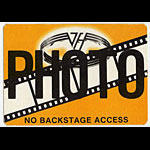 Van Halen Orange Photo Backstage  Pass