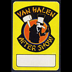 Van Halen After Show Pass
