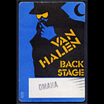 Van Halen Omaha Back Stage Pass