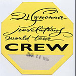Wynonna 1996 Revelations Crew Backstage  Pass