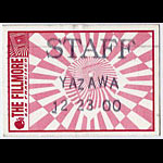 Yazawa Fillmore Staff Pass